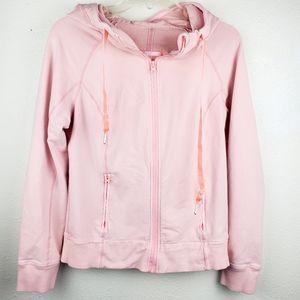 LULULEMON ATHLETICA Pink Zip Up Hooded Jacket